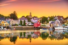 Portsmouth, New Hampshire, USA townscape. At dusk stock image