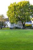PORTSMOUTH, NH, EUA - 30 de setembro de 2012: Strawbery Banke é um museu exterior da história Fotografia de Stock Royalty Free