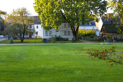 PORTSMOUTH, NH, EUA - 30 de setembro de 2012: Strawbery Banke é um museu exterior da história Fotos de Stock