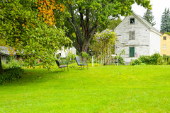 PORTSMOUTH NH, USA - September 30, 2012: Strawbery Banke är ett utomhus- historiemuseum arkivbilder