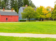 PORTSMOUTH, NH, USA - 30. September 2012: Strawbery Banke ist ein Geschichtsmuseum im Freien Lizenzfreie Stockbilder