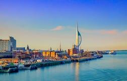 Portsmouth port fotografering för bildbyråer