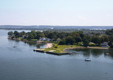 Portsmouth, RI as Seen from the Mount Hope Bridge Royalty Free Stock Photography