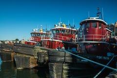 Portsmouth schronienia Tugboats obrazy stock