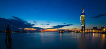 Portsmouth. Spinnaker Tower sunset  England Royalty Free Stock Image