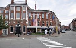Portsmouth, 30th Czerwiec: Athenaeum budynek od W centrum Portsmouth w New Hampshire usa obraz royalty free
