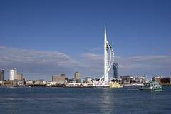 Portsmouthspinnaker-Kontrollturm Lizenzfreie Stockfotografie
