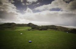 Portstewart高尔夫俱乐部-第一个发球区域 免版税库存图片
