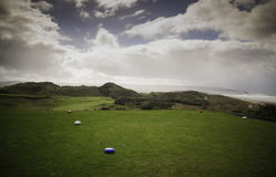 Portstewart golf club - first tee royalty free stock images