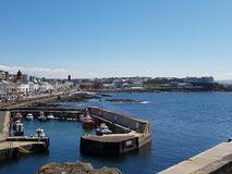 Portstewart Harbour and Bay. Portstewart, Northern Ireland, harbour, Promenade and bay North Coast Ireland stock photo