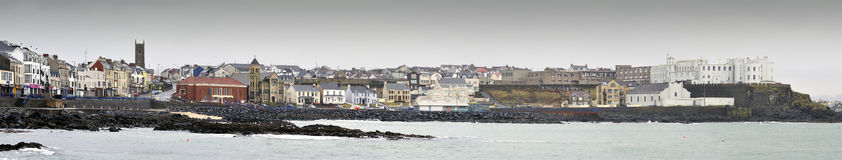 Portstewart panoramic view Royalty Free Stock Photography