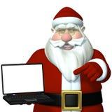 Portátil 1 de Santa Fotografia de Stock