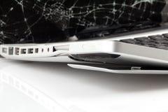 Portátil quebrado Fotografia de Stock