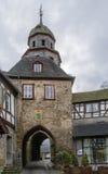 Porttorn, Braunfels, Tyskland Arkivfoto