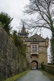 Porttorn, Braunfels, Tyskland Arkivbild
