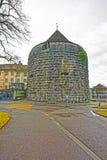 Porttorn i den gamla staden av Solothurn Royaltyfri Bild