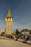 Porttorn i Lindau på sjön Bodensee Royaltyfri Bild