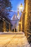Porttorn i Tallinn i vinter Royaltyfri Fotografi