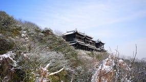 Porttorn i vinter Arkivfoto