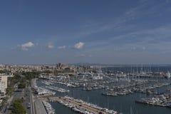 Portu i Marina Palmy Majorca schronienia Balearic wyspa zdjęcia stock