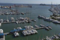Portu i Marina Palmy Majorca schronienia Balearic wyspa fotografia stock