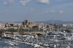 Portu i Marina Palmy Majorca schronienia Balearic wyspa zdjęcie stock