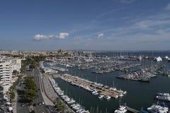Portu i Marina Palmy Majorca schronienia Balearic wyspa obraz stock