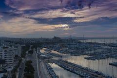 Portu i Marina Palmy Majorca schronienia Balearic wyspa zdjęcia royalty free