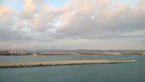 Portu morskiego wodny teren w Hiszpanii zdjęcie wideo