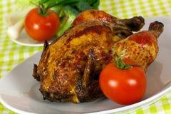 烤的艺术鸡精美可口portug 免版税库存照片