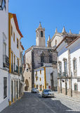 Portugal, Ã-‰ vora Steinhäuser und Straßen, gepflastert mit Stein Stockfoto