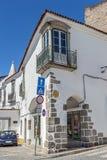 Portugal Ã-‰ vora Stenhus och gator som stenläggas med stenen Royaltyfria Bilder