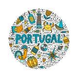 portugal stock de ilustración