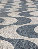 Portugal abstract tile pavement patterns as a back Stock Photo