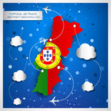 Portugal air travel abstract background Royalty Free Stock Photos