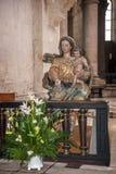 Portugal, Alcobaça Kloster von Santa Maria de Alcobaça - int Lizenzfreie Stockfotos