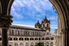 Portugal, Alcobaca Medieval Catholic Monastery church Royalty Free Stock Photos