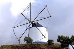 Portugal, Alentejo: De molen van de wind Royalty-vrije Stock Afbeeldingen