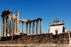 Portugal, Alentejo, Evora: Tempel von Diana stockbild