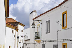 Evora traditional street Royalty Free Stock Images