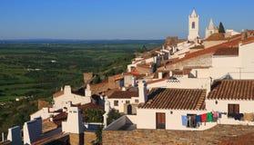 Portugal Alentejo, Monsaraz historisk by Royaltyfri Foto