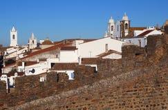 Portugal Alentejo, Monsaraz historisk by Arkivbild