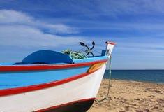 Portugal, Algarve, barco de pesca fotografía de archivo