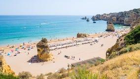 Portugal Algarve beach Praia Dona Ana in Lagos Stock Image