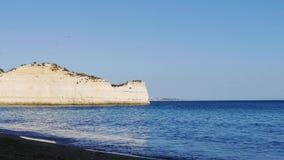 Portugal, Algarve beach with rocky coast stock video footage