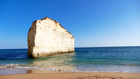 Portugal, Algarve beach sandstone coast - Panorama Picture royalty free stock photos