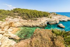 Portugal Algarve Beach View From Above Stock Photo