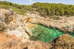 Portugal Algarve Beach View From Above Royalty Free Stock Images