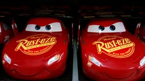Cars movie toys. royalty free stock photos