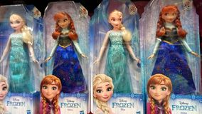 Disney Frozen Elsa and Anna Dolls royalty free stock images